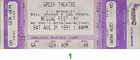 Jimmy Cliff Vintage Ticket