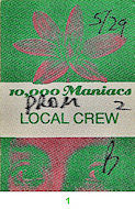 10,000 Maniacs Backstage Pass
