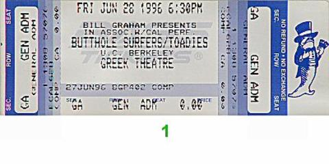 Butthole Surfers Vintage Ticket