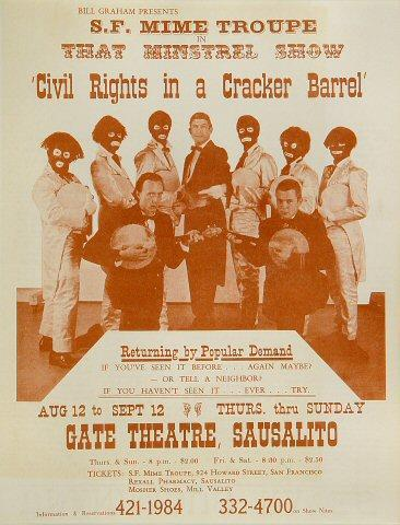 San Francisco Mime Troupe Postcard