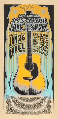Ann Arbor Folk Festival Handbill