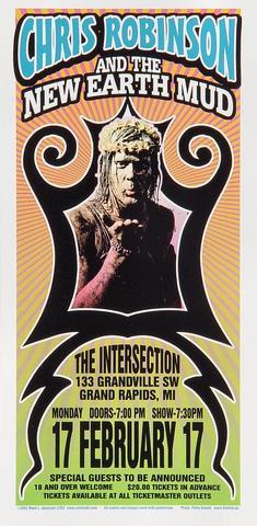Chris Robinson and New Earth Mud Handbill