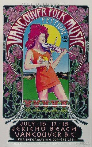 Vancouver Folk Music Festival Poster