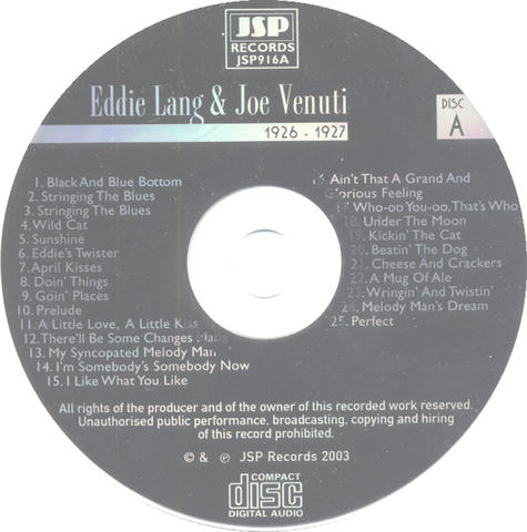 Eddie Lang CD