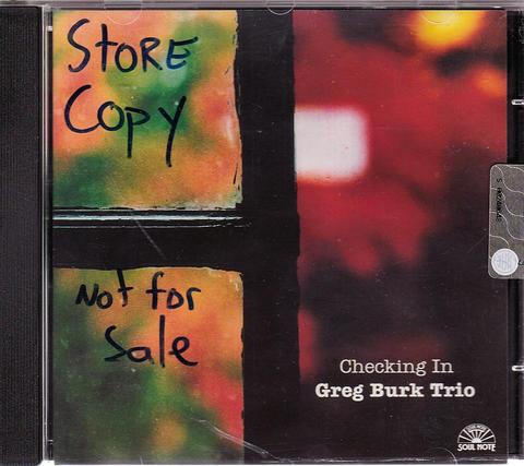 Greg Burk Trio CD