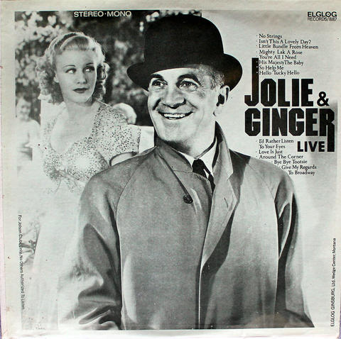 "Jolie & Ginger Live Vinyl 12"" (New)"