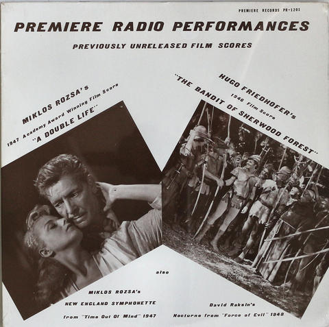 "Premiere Radio Performances: Previously Unreleased Music Scores Vinyl 12"" (New)"