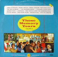 """Those Memory Years Volume 2 Vinyl 12"""" (Used)"""