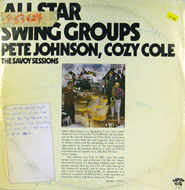 """Pete Johnson / Cozy Cole Vinyl 12"""" (Used)"""