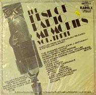 "The Best Of Radio Memories: Vol. Three Vinyl 12"" (New)"