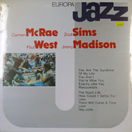 "Carmen McRae / Zoot Sims / Paul West / Jimmy Madison Vinyl 12"" (New)"