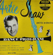 """Artie Shaw and His Orchestra Vinyl 10"""" (Used)"""