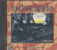 Texas & Tennessee Territory Bands: 1928-1931 CD