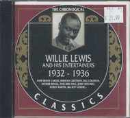 Willie Lewis & His Entertainers CD