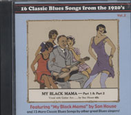 Blues Songs From The 1920's: Vol 2 CD