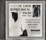 St. Louis Barrelhouse Piano (1929-1934) CD