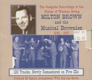 Milton Brown and the Musical Brownies CD