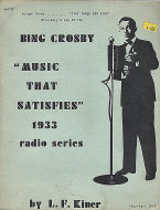 Music That Satisfies - 1933 Radio Series: Volume 3 Book