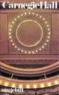 Carnegie Hall Stagebill Program