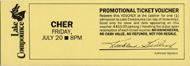 Cher Vintage Ticket