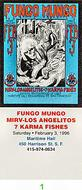 Fungo Mungo Vintage Ticket