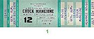 Chuck Mangione Vintage Ticket