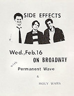 Side Effects Handbill
