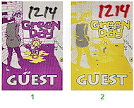 Green Day Backstage Pass