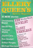 Ellery Queen's Mystery Vol. 50 No. 5 Magazine
