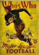 Who's Who In Major League Football: 1935 Edition Book