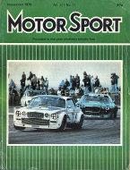 Motor Sport Vol. LII No. 11 Magazine