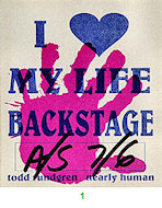 Todd Rundgren Backstage Pass