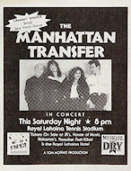 The Manhattan Transfer Handbill