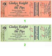 Gladys Knight and the Pips Vintage Ticket
