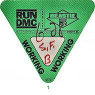 Run-D.M.C. Backstage Pass