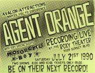 Agent Orange Handbill