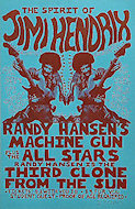 Randy Hansen's Machine Gun Poster