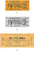 The Little Angels Vintage Ticket