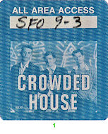 Crowded House Backstage Pass