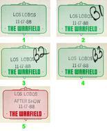 Los Lobos Backstage Pass
