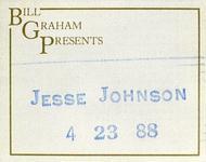 Jesse Johnson Backstage Pass