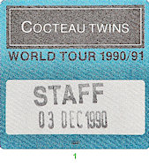 Cocteau Twins Backstage Pass