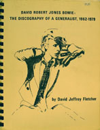 David Robert Jones Bowie: The Discography Of A Generalist, 1962-1979 Book