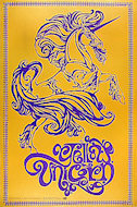 Yellow Unicorn Poster