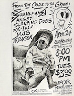 The Subhumans Handbill