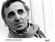 Charles Aznavour Promo Print