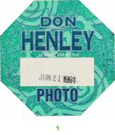 Don Henley Backstage Pass