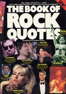 The Book of Rock Quotes Book
