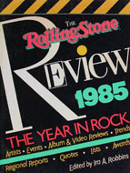 The Rolling Stones Review 1985 The Year in Rock Book