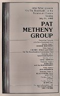 Pat Metheny Group Program